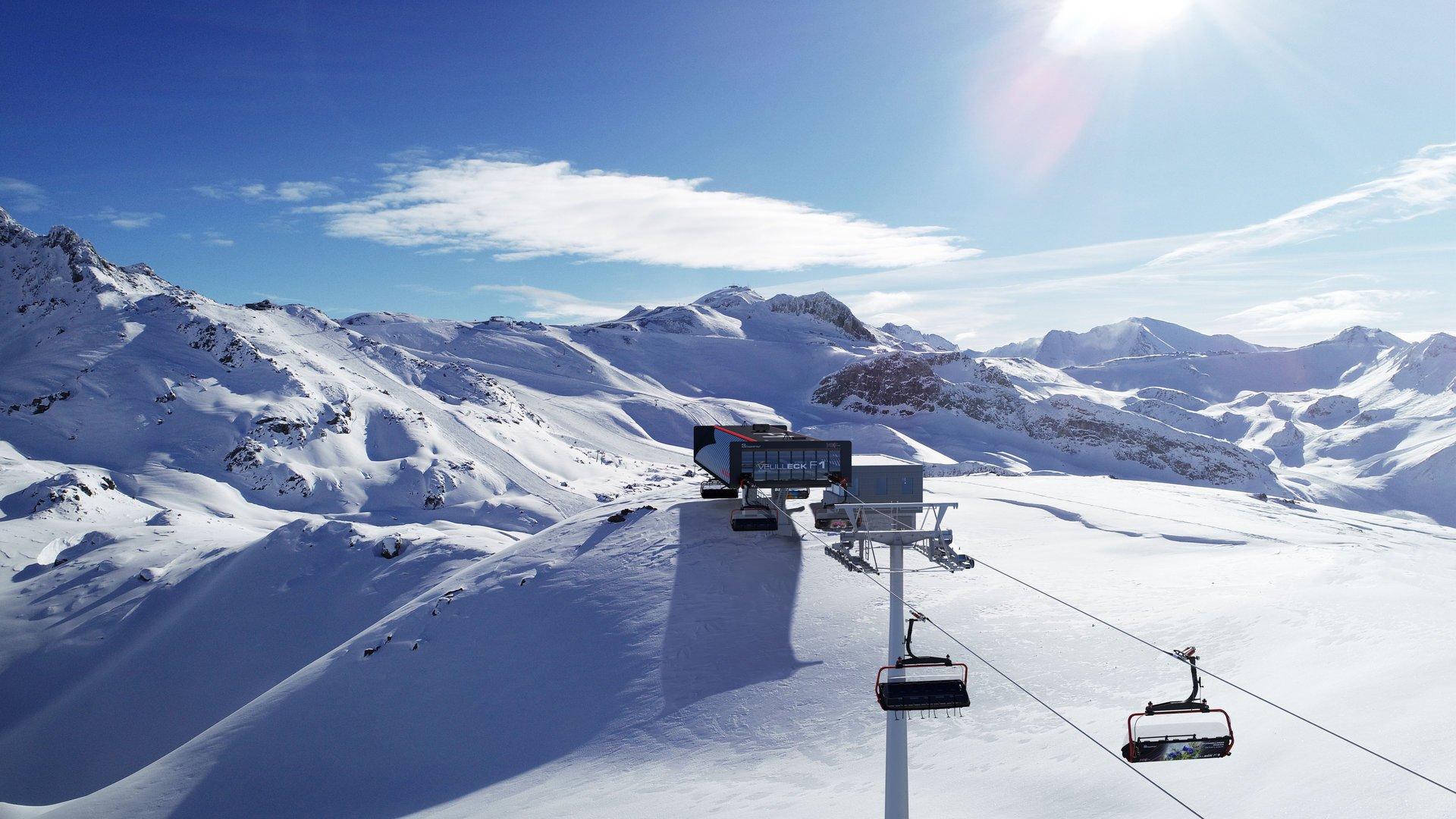 6-CLD-B Velilleck F1, Bergstation Einfahrt Baujahr 2019